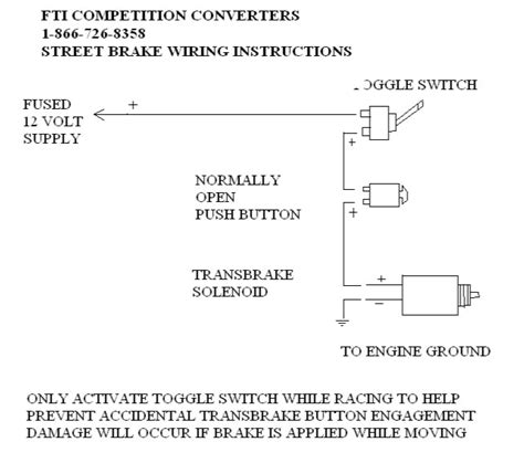 Turbo Trans Brake Installation Fti
