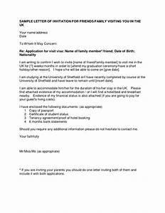 uk visa invitation letter template best template collection With invitation letter for visitor visa uk template