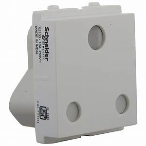 Buy Schneider Opale 25A 3 Pin Socket Outlet With Shutter