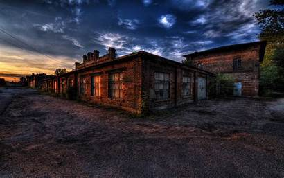 Warehouse Building Sunset Hdr Commercial Wallpapers Clip