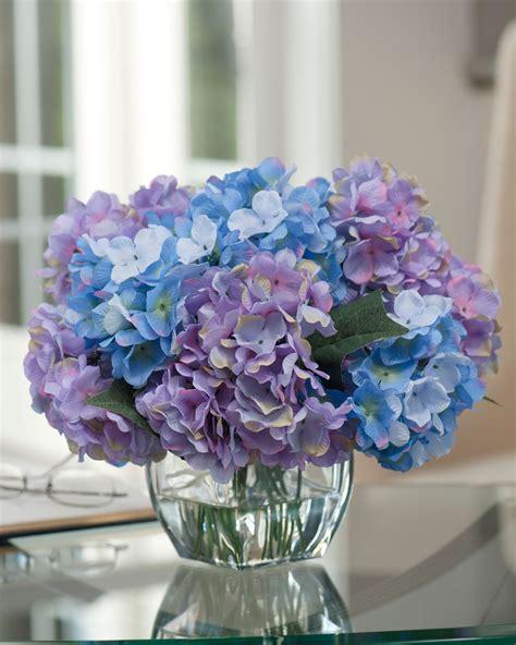 Purple Hydrangea Arrangement Wwwimgkidcom The Image