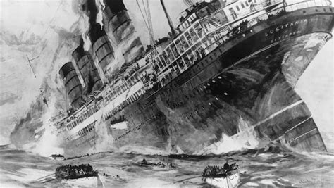 old picz the sinking of the lusitania 1915