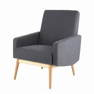 Fauteuil Vintage Maison Du Monde : fauteuil vintage en tissu anthracite kelton maisons du monde ~ Teatrodelosmanantiales.com Idées de Décoration