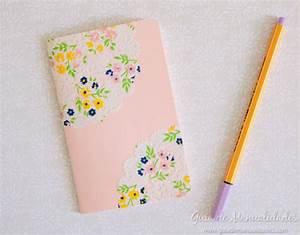 Cuadernos decorados con blondas de papel Guía de MANUALIDADES