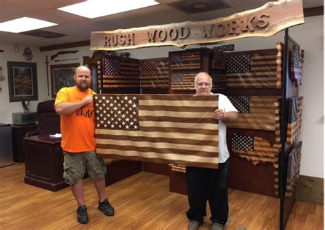 woodworker  waves     flag design
