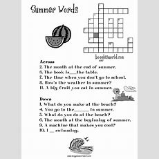 Summer Worksheets For Kids And Esl Teachers