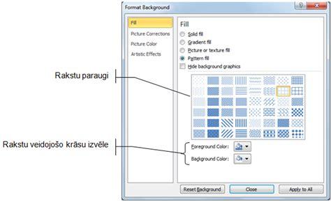 Microsoft PowerPoint 2010: Slaida fona maiņa