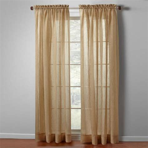 Crushed Voile Curtains Tree Shop by Crushed Sheer Window Panels Set Of 2 Tree