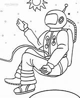 Astronaut Coloring Pages Space Printable Sheets Cool2bkids Kid Each sketch template