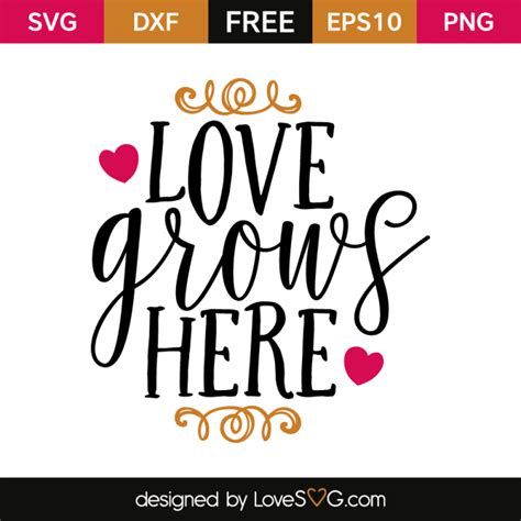 Free earring template svg download. Love grows here | Lettering, Sign quotes, Cricut svg files ...