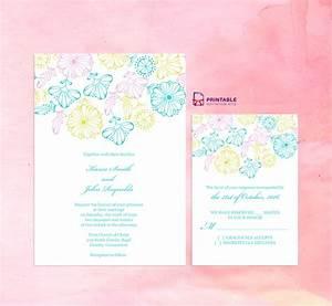 2016 spring blooms wedding invitation and rsvp set With free printable spring wedding invitations
