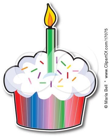 birthday cupcake clip art clipart panda  clipart