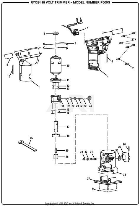 Homelite Volt Trimmer Parts Diagram For General