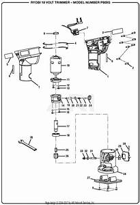 Homelite P600g 18 Volt Trimmer Parts Diagram For General