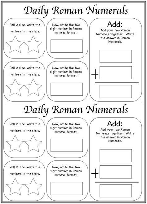 Daily Roman Numerals Worksheet | Fun with Math | Pinterest | Homeschool, Roman numerals and Roman