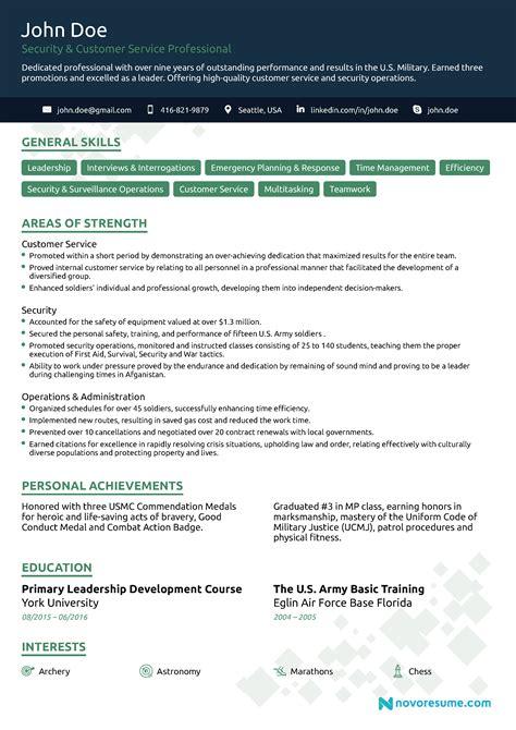 Resume Writing Services For Veterans by Veteran Resume Exle Vvengelbert Nl