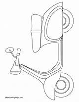 Scooter Coloring Pages Printable Drawing Audrey Hepburn Scooters Emblem Lucky Vespa Template Bestcoloringpages Transportation Patterns Sketch Preschool Sheets Paratrooper Theme sketch template