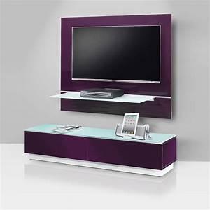 Meuble Avec Support Tv : meuble tv bas et mural avec support tv et syst me collecte ~ Dailycaller-alerts.com Idées de Décoration