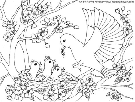 bird pictures to color birds coloring page
