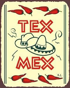 Tex Mex Vintage Metal Mexican Retro Tin Sign – Vintage
