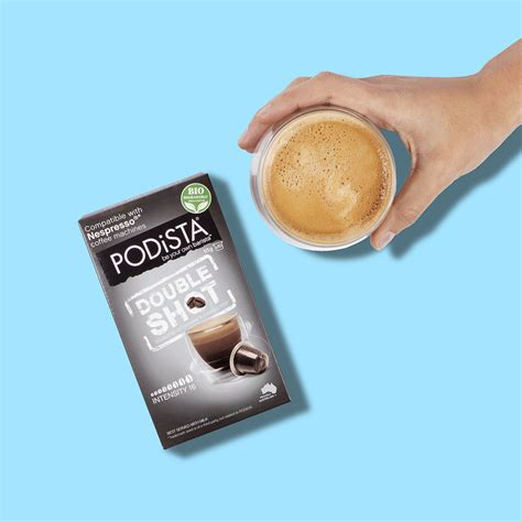 Roasting and brewing the best coffees we can find, the doubleshot is the instigator of change and illuminator of taste. PODiSTA Nespresso®* Compatible Double Shot Coffee Pod 10pk ...