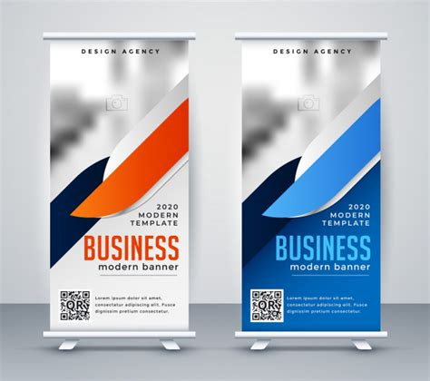 modern business roll  banner design template vector