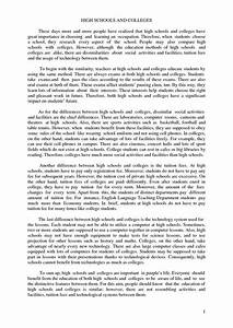 College Application Essay Sample Compare Contrast Essay Outline Example Essay Examples