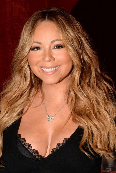 mariah carey long hairstyle  mermaid waves  thick