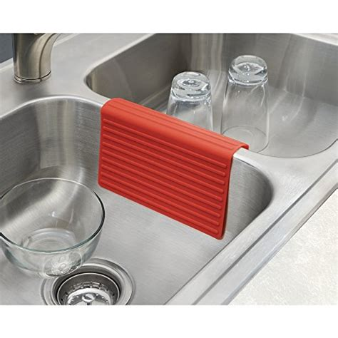 mdesign silicone kitchen sink protector mat  divider