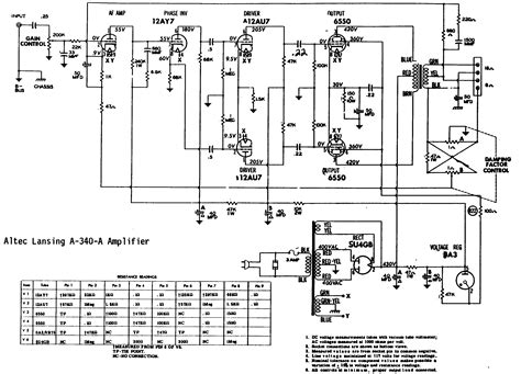 Schematic - Altec Lansing A340A Tube Amplifier @ AmpsLab.com