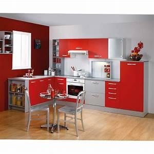 Meuble D Angle Haut Cuisine : meuble haut d 39 angle 1 porte 60cm smarty rouge ~ Teatrodelosmanantiales.com Idées de Décoration