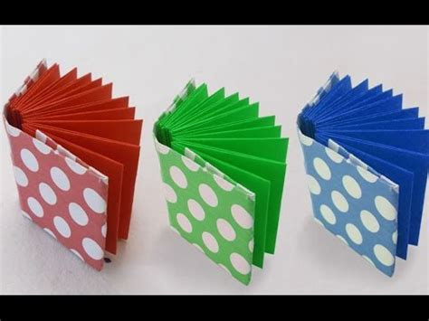 diy project ideas     mini origami book kids