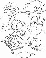 Reading Coloring Pages Results sketch template