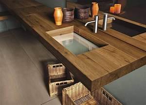 Holz Versiegeln Gegen Wasser : ein holz waschtisch mit glas waschbecken von lago schafft ~ Lizthompson.info Haus und Dekorationen