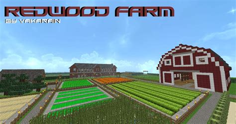 redwood farm minecraft building