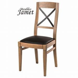 Chaise Style Industriel : chaise style industriel loft en ch ne meublesjamet ~ Teatrodelosmanantiales.com Idées de Décoration