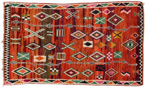 mid century modern berber moroccan rug with tribal design for sale at 1stdibs