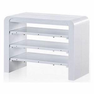 table console extensible blanc laque avec rangement zelda With meuble zelda