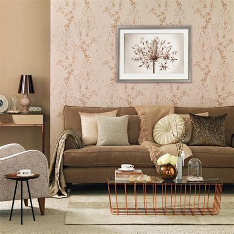 Rose gold living room   Living room decorating ideas