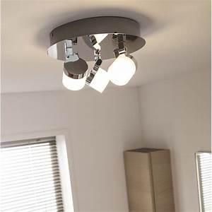 Plafonnier Led Leroy Merlin : plafonnier 3 spots coos led 3 x 4 5 w led int gr e blanc ~ Dailycaller-alerts.com Idées de Décoration