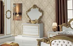 Schlafzimmer Weiß Gold : barock schlafzimmer elegantes schlafzimmer luxus schlafzimmer ~ Indierocktalk.com Haus und Dekorationen
