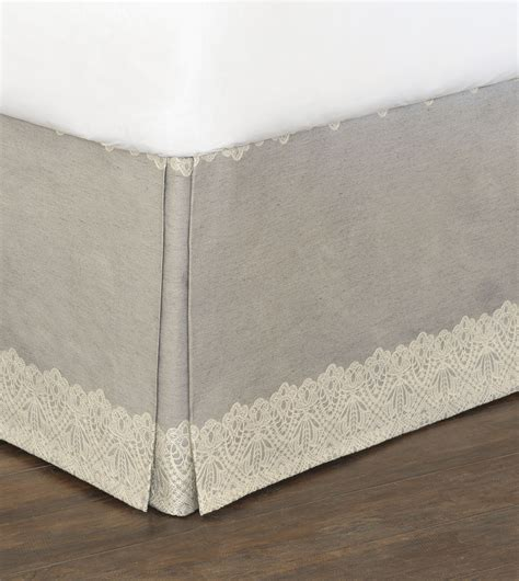 Luxury Bedding By Eastern Accents  Thayer Silver Bed Skirt
