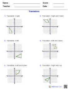 four quadrant graphing worksheets translation rotation reflection worksheet tecnologialinstante
