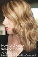 Going blonde from brunette