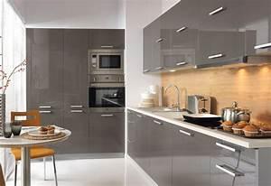 Grosse einbaukuche kuche 420cm mit hochschranken modern for Küche grau hochglanz