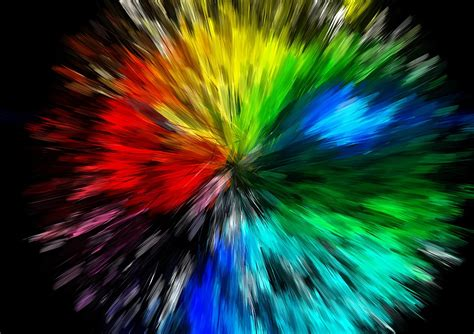 explosion of colors free illustration big explosion color free image