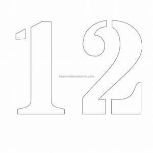free 12 inch 12 number stencil freenumberstencilscom With 12 letter stencils
