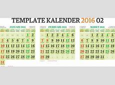 Template Kalender 2016 02 Editable Vector Corel CDR Ai PSD