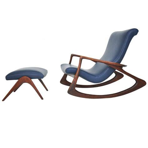 vladimir kagan rocking chair with ottoman for sale at 1stdibs