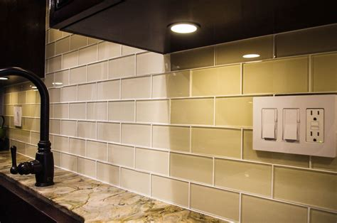 Glass Kitchen Backsplash Pictures by Glass Subway Tile In 2019 Kitchens Glass Subway
